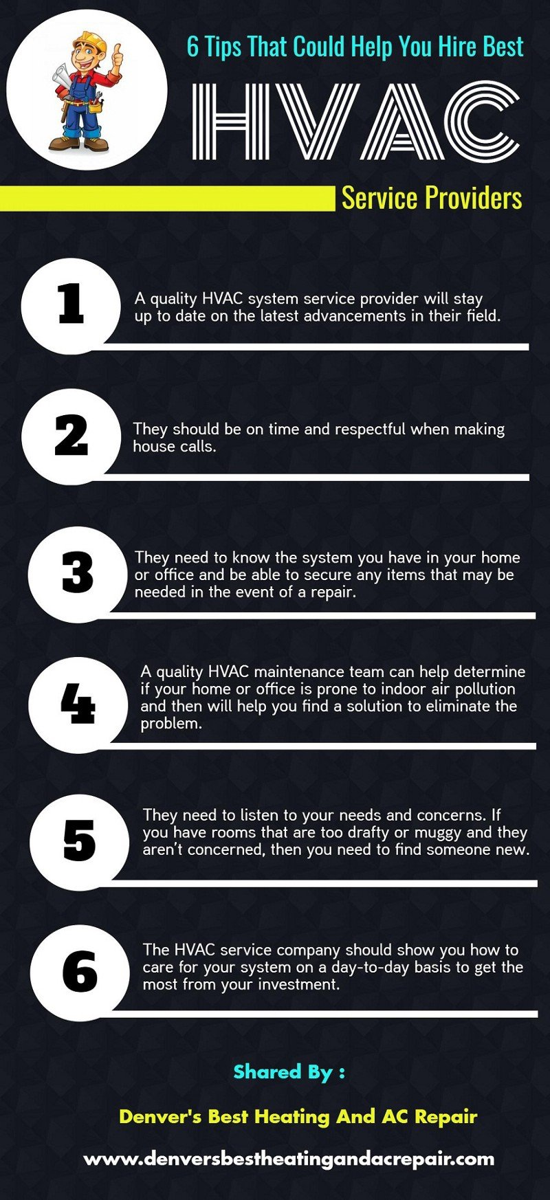 Infographic 6 Tips That Could Help You Hire Best Hvac